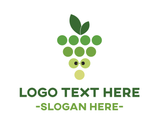 Grape - Green Nerd Grapes logo design