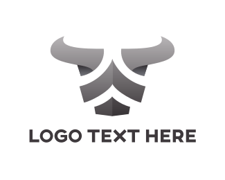 Fierce - Metal Bull Stripes logo design