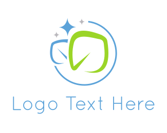 Cleaning - Clean Leaves logo design