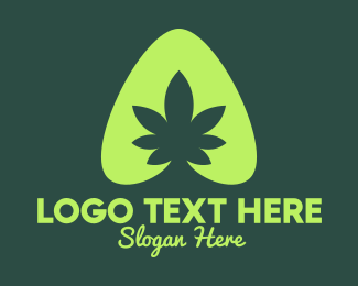 Marijuana - Simple Marijuana Leaf logo design