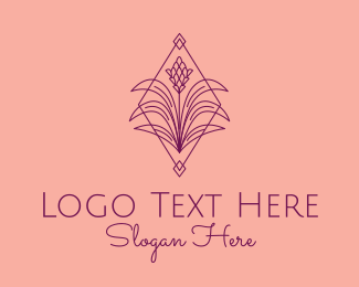 Luxury Brand - Purple Ginger Plant logo design