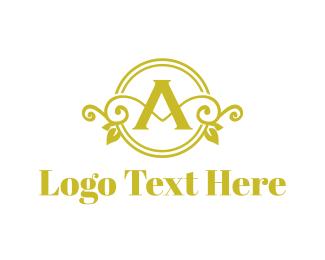 Villa - Floral Letter A logo design