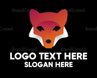 Wildlife - Abstract Red Fox logo design