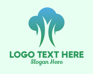 Broccoli - Modern Fresh Tree logo design