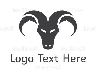 Cattle - Ram Face logo design