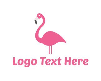 Flamingo - Pink Flamingo logo design