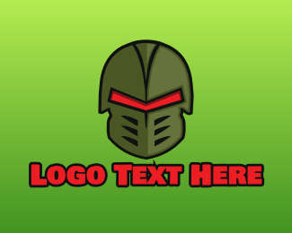 Silver Robot - Esports Gaming Warrior Helmet logo design
