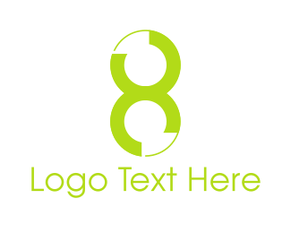 Number 8 - Green Number 8 logo design