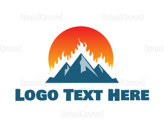 Outdoor - Burning Mountain logo design