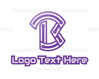 Cryptocurrency - Violet B Tech logo design
