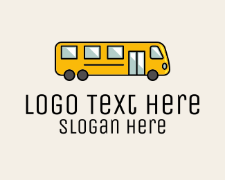 Grade School - Yellow School Bus logo design
