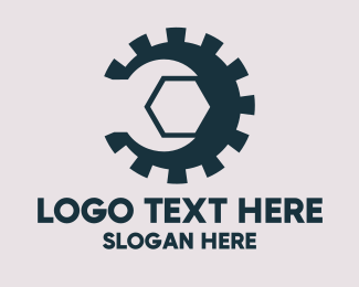 Industrial Gear Wrench logo design