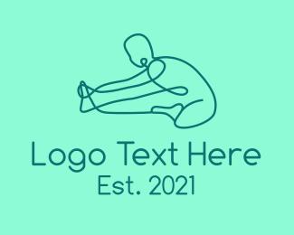 Exercise - Stretching Exercise logo design
