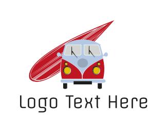 Caravan - Surf Van logo design
