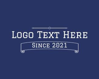 Varsity - Varsity Text Banner logo design