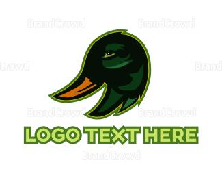 Duck - Green Duck Head logo design
