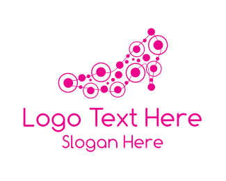 Womens Clothing - Pink Shoe logo design