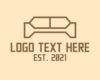 Living Room - Living Room Sofa logo design
