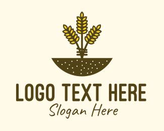 Farm - Wheat Farm Crop logo design