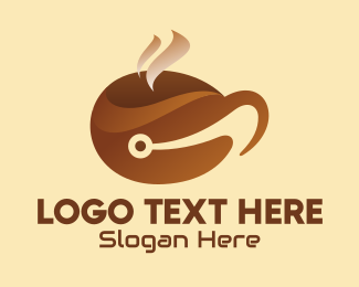 Coworking - Coffee Cup Tech logo design