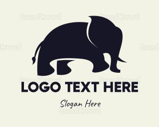 """Purple Little Elephant "" by LogoBrainstorm"