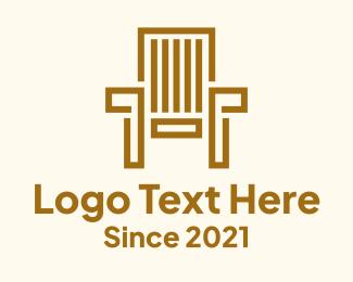 Wooden - Wooden Garden Chair logo design