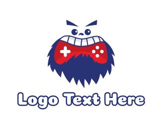 Beard - Bearded Yeti Gaming logo design