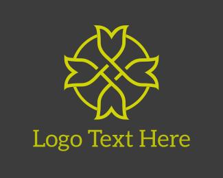 Hair Salon - Tulip Circle logo design