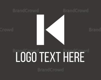 Back - K Music Play Back logo design