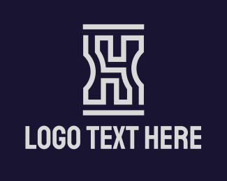 Concrete - Gray Concrete Maze logo design