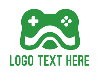 Joystick - Frog Gamer logo design