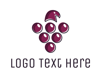 Hawk - Grape Hawk logo design