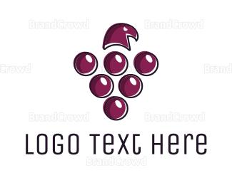 Cellar Door - Grape Hawk logo design