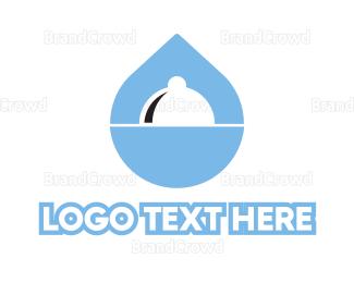 Cloche - Water Food  logo design