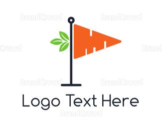 Carrot - Carrot Flag logo design