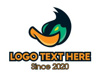 Poultry Farm - Mallard Duck Mascot logo design