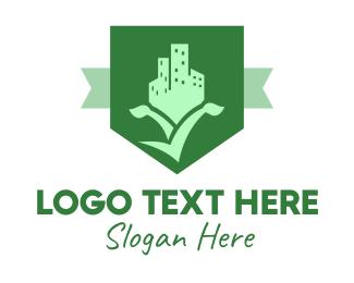 Estate - Real Estate Shield logo design