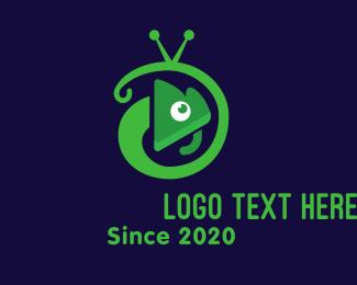 Tv Channel - Gecko Television Mascot logo design