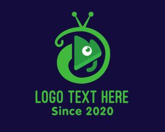 Tv Show - Gecko Television Mascot logo design