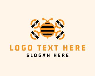 Drone - Bee Drone logo design
