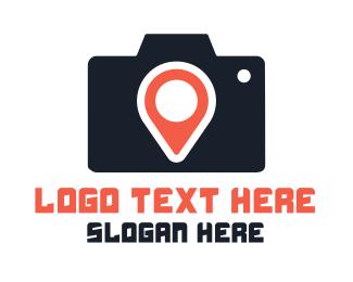 Dslr - Photography Location Pin logo design