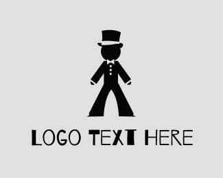 Event Planning - Gentlemen Tux Hat logo design