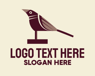 Totem - Brown Wood Bird logo design