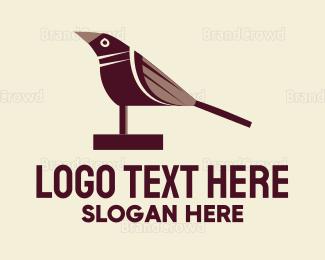 Diy - Brown Wood Bird logo design