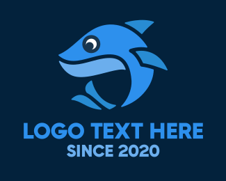 Whale Shark - Blue Little Shark logo design