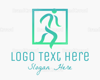 Man - Abstract Running Man logo design