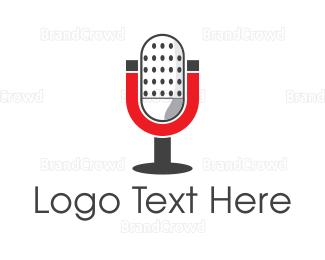 Radio - Magnetic Microphone logo design