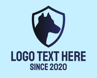 Bodyguard - Dog Emblem logo design