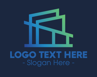 Modern - Modern Gradient Architecture Firm logo design