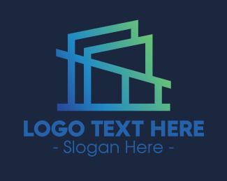 Architecture - Modern Gradient Architecture Firm logo design